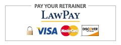 Pay your retainer via LawPay - Make Payment Visa, Mastercard, or Discover